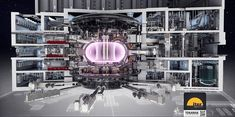Render of what the ITER Tokamak fusion reactor should look like when finished : MachinePorn Nuclear Physics, Physics 101, Nuclear Energy, Nuclear Power, Science And Nature, Science And Technology, Nuclear Technology, Experiment, Engineering