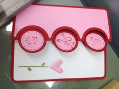 Pic of Valentines day Triple circle flip its card