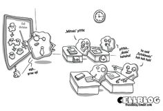"""Wouldn't this be a perfect cartoon fro the front of the """"Cell-ebrate Science"""" wearable from ScienceWear.net LOVE IT!"""