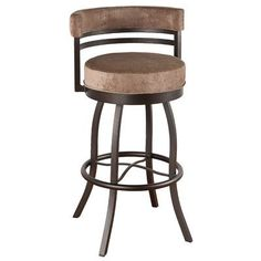 "Callee Americana 30"" Swivel Bar Stool Upholstery: Ford Black, Frame Finish: Sun Bronze"
