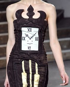"""Jeremy Scott 2008 - I bet everyone you see when wearing this dress would ask you """"got the time?"""".... lol"""
