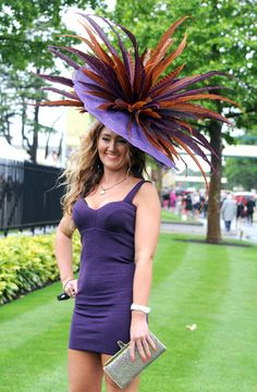 As seen at Royal Ascot -outfit shouts -get out of my way. 8f6cc0fea37