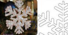 Comment fabriquer un flocon de neige tout brillant! UN PATRON GRATUIT!
