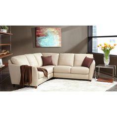 Violino® – Beringer Cream Top Grain Leather Sectional Ranch Style Homes, Cream Tops, Leather Sectional, Basement, Couch, Living Room, Space, Furniture, Home Decor