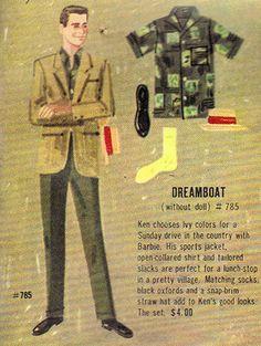 Vintage Ken Dreamboat Booklet