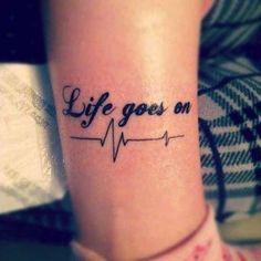 Frasi per tatuaggi in inglese - Tatuaggio Life Goes On