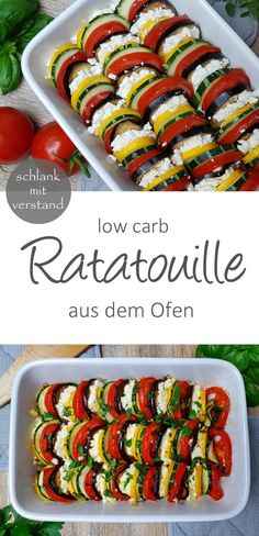 low carb Ratatouille from the oven low carb Ratatouille from the O . - low carb ratatouille out of the oven low carb ratatouille out of the oven # - Low Carb Dinner Recipes, Diet Recipes, Vegetarian Recipes, Tofu Recipes, Snacks Recipes, Diet Meals, Cookbook Recipes, Smoothie Recipes, Easy Recipes