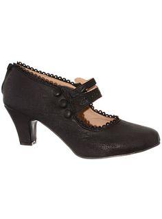 Bygone Eras Maryjane Heels in Coal $42.00 AT vintagedancer.com