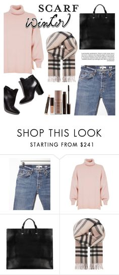 """""""Winter Scarf Style"""" by eirini-eirinaki ❤ liked on Polyvore featuring RE/DONE, TIBI, Loeffler Randall, Clare V., Burberry, Laura Mercier and scarf"""