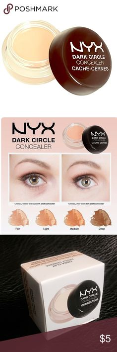 🔅NYX Dark Eye Concealer for Fair Skin🔅W/GIFTS😍 🔅A serious solution for one of beauties most challenging problems! No fancy name, just a product that can be counted on to get the job done! This BRAND NEW NYX product glides on without looking thick or obvious. Coconut oil provides just enough moisture while a tint of orange counteracts the appearance of dark circles. This is the perfect answer!🔅SHIPS SAME DAY🔅EVERY PURCHASE INCLUDES TONS OF FREE GIFTS🔅BUNDLE ONLY 3 ITEMS GET ADDITIONAL…