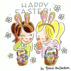 Happy Easter by Blond Amsterdam Blond Amsterdam, Happy Easter, Easter Bunny, Easter Art, Tarjetas Diy, About Easter, Christmas Wishes, White Christmas, Cute Drawings