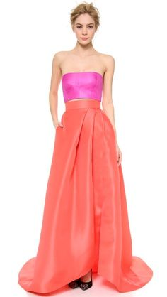 Monique Lhuillier Maxi skirt and crop top. Perfection!
