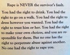 NEVER the survivor's fault. #Steubenville #Ohio #victimblaming