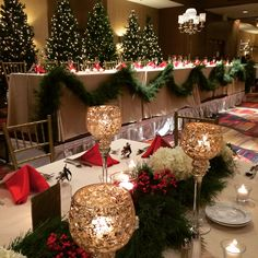 Christmas by candlelight by Furst Florist #FurstEvents #Christmasweddings #daytonweddings