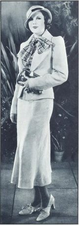 1933 Fashion.                                                 I believe that's what was called a very smartly dressed lady