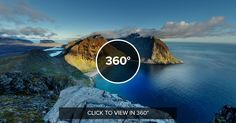 Stunning 360 of Kvalvika beach Lofoten Islands Norway. Photo by Martin Kulhavy [8000x4000]