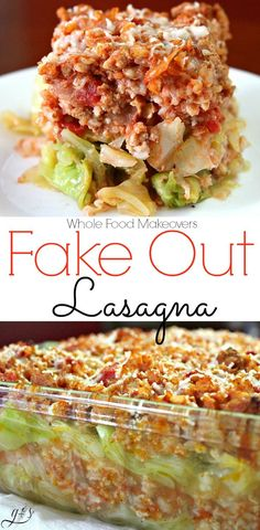 Healthy lasagna? Yes, it's real! This fake out low carb casserole is easy to prepare and the best way to feed your family more whole foods! Layers of blanched cabbage, rice, tomatoes, ground meat (turkey or beef), Italian spices, and cheese combine to produce the MOST hearty and delicious weeknight dinner EVER! Don't waste your precious time on cabbage rolls, try this simple clean eating recipe instead!