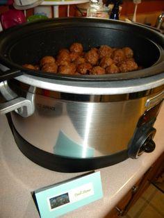 Our Frozen Party - Troll Stones=crockpot meatballs
