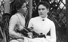 Helen Keller: On March 3, 1887, Anne Sullivan arrived at the Keller household in Tuscumbia, Alabama to work with Helen Keller.  Anne brought a doll for Helen as a gift, but immediately started manually spelling d-o-l-l in her hand.