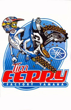 See the amazing work of Wally Hackensmith, the motocross cartoons designed for leading athletes motocross Motocross Logo, Motocross Tracks, Motocross Shirts, Motos Trial, Cast Art, Sports Art, Sports Logo, Old Images, Motorcycle Art