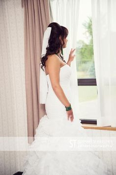 A moment before leaving to walk down the isle to her future. Special Day, Wedding Photos, Wedding Inspiration, In This Moment, Weddings, Future, Couples, Wedding Dresses, Photography