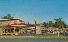 Continental Motel - 800 W block of North Temple- Salt Lake City, Utah Salt Lake City Utah, Battle Creek, Vintage Hotels, Hotel Motel, Roadside Attractions, Heated Pool, The Ranch, Travel Destinations, Places