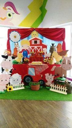 Party Animals, Farm Animal Party, Farm Animal Birthday, Farm Birthday, 2nd Birthday Parties, Birthday Party Decorations, Farm Themed Party, Barnyard Party, Baby Activity