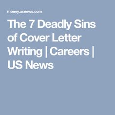 A Strategy for Writing the Dreaded Cover Letter