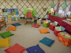 Beautiful - story time yurt! via Barefoot Books
