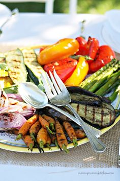 Grilled Summer Vegetables plus a 100 dollar #giveaway to the amazing home store, Layla Grayce!