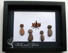 Pebble Art Campfire Scene, Campfire Pebble Art, Unique Cabin Art, Gifts For Them, Custom Pebble Art Gift, Original Abstract Art, Handmade