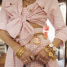At the Shops | Vintage Chanel : 10 Easy Pieces--a selection of vintage Chanel pieces from the adorable Chanel Saint-André Gingham Set to handbags and charms