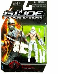 G.I. Joe Movie The Rise of Cobra 3 3/4 Inch Action Figure Storm Shadow (Arctic Assault) by hasbro. $16.91. Storm Shadow Arctic Assault. 3 3/4 Inch Action Figure. G.I. Joe The Rise of Cobra. Highly detailed. Sword and other accessories. THIS IS A GI JOE RISE OF COBRA STORM SHADOW ARCTIC ASSAULT VARIANT FIGURE.  SEALED AND NEW IN PACKAGE.