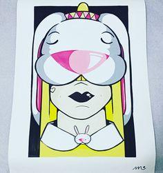 Lindo desenho feito pela artista @mariebalbinot ! Sou eu, com meu sombrero mexicano e a mamãe. Ficou demais. Muito lindo. Agora falta enquadrar e pendurar na parede. E pra quem se interessar, chama a @mariebalbinot e encomende o seu também ! Ela faz cada grafite lindo, confere lá no IG dela.  #Mariê #MariêBalbinot  #ÉmtoAmor 😍🐰😍🐰😍🐰 #10mesesDoCoelhoSushi #Coelhos  #Coelho  #CoelhoAnao #Bunny  #Bunnys #MyBunnySushi #BunnySushi #Bunnie  #Bunnies #BunniesOfInstagram  #CoelhoSush