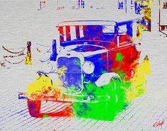 Digital Paintings, The World's Greatest, Fine Art America, Wall Art, Classic, Car, Artist, Artwork, Design