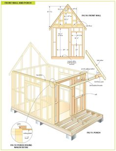 Free Wood Cabin Plans - Free step by step shed plans Tiny Cabins, Cabins And Cottages, Cabin Plans, Shed Plans, Garage Plans, Design Despace, Studio Design, Build A Playhouse, Cabin In The Woods