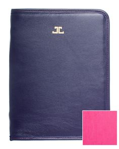 Ipad case. Egglplant navy outside, pink inside