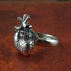 Handmade Gifts | Independent Design | Vintage Goods Anatomical Heart Ring - Geek Chic