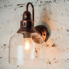 Whitechapel Wall Mounted Light - Burnished Copper  | Culinary Concepts