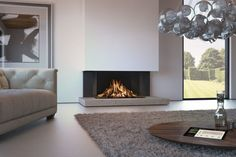 DRU Maestro Eco Wave gas fire - Van Manen fireplaces and stoves Decor, Living Room, Foyer Decor, Interior, Contemporary Fireplace, Fireplace Design, Home Decor, Interior Design, Fireplace