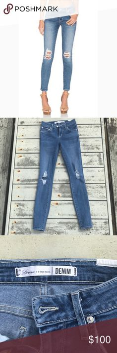 ••lovers + friends ricky distressed skinny jeans•• Lovers + Friends distressed Ricky skinny jeans • Size 24 • EUC/like new, only worn a handful of times   So many compliments when wearing these in the short time I've had them! These jeans are definitely a closet must-have! Lovers + Friends Jeans Skinny