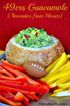 49er Tailgating Lady Behind The Curtain - 49ers Guacamole {Avocados from Mexico}