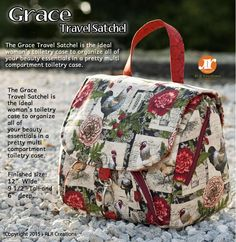 Looking for your next project? You're going to love Grace Travel Satchel - Toiletry Bag by designer RLR Creations.