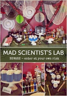 Mad Scientist's Lab Halloween party