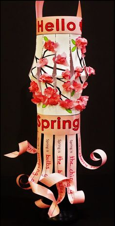 Japanese Cherry Blossom Craft and Haiku Poetry Activity   This is a very versatile art project the can be used for celebrating Cherry Blossom Festivals, Apple Blossoms, Spring, Haiku Poetry and Japanese culture.  Your kiddos will be delighted on work on this creative research and 3D Japanese Lantern.
