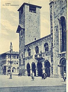 Como, the Bell-tower 1900