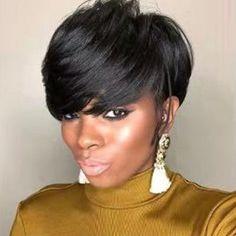 Black Girls Hairstyles, Wig Hairstyles, Hairstyles 2018, Short Sassy Hairstyles, Hairstyles Pictures, African Hairstyles, Hairstyle Ideas, Edgy Haircuts, Gorgeous Hairstyles