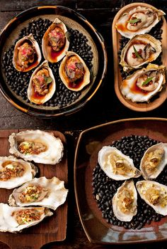 all oysters at girl & the goat  photo credit: anthony tahlier