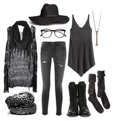 """""""Wood Witch No. 9 – Casually Fighting Evil Spirits"""" by n-nyx ❤ liked on Polyvore featuring H&M, H by Hudson, Illesteva, Current/Elliott, Rachel Entwistle, ISABEL BENENATO, Firetrap and Polder"""