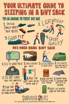 Using a bivy sack is a great way to keep your backpack light while getting close to nature during your overnight outdoor trips. Here is a detailed guide to sleeping in bivy bags! #bivybags #bivysacks #bivy #survivalkit #survival #preparedness #gunassociation Camping Survival, Outdoor Survival, Survival Prepping, Emergency Preparedness, Survival Gear, Survival Skills, One Person Tent, Carlito's Way, Outdoor Shelters